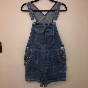 Vintage Overall Denim Shorts by Xhilaration